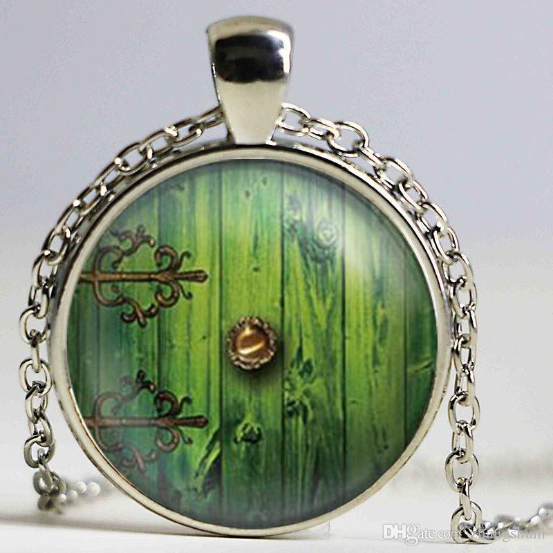 1 pcs senhor hobbit porta jrwelry colar de pingente de vidro cabochão colar