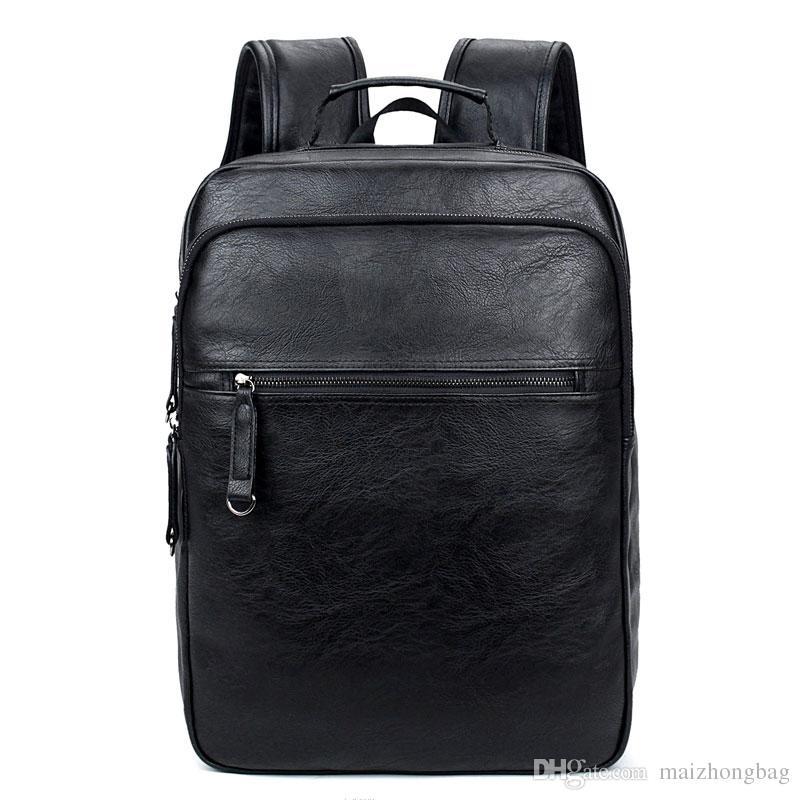 2017 جديد الأوروبية أزياء العلامة التجارية اسم جلد ظهره الرجال حقيقي خمر نمط مصمم حقائب الظهر سعة كبيرة