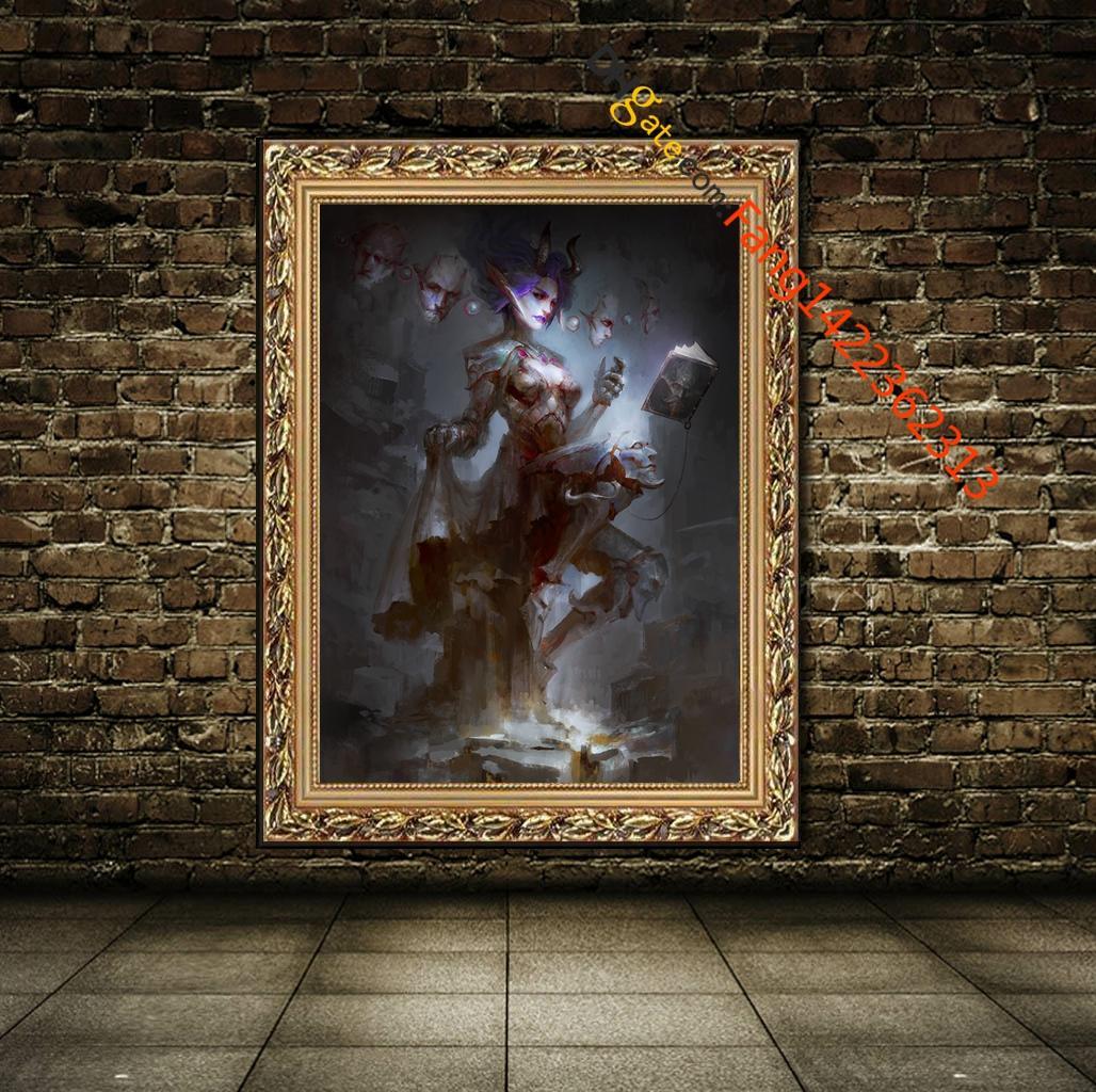 """""""Ars Goetia Duke Dantalion"""" Lámina de exposición. HD Canvas Prints Wall Art para Home Decor (Sin Marco)"""