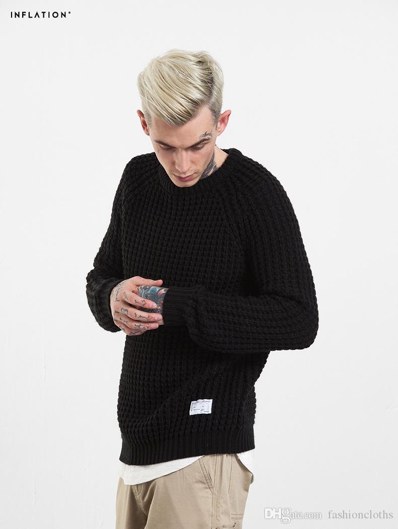 2017 Nuevos hombres suéter Otoño Moda Marca Casual Suéter Slim Fit Tejer Hombres Suéteres Y Pullover Masculino 611206