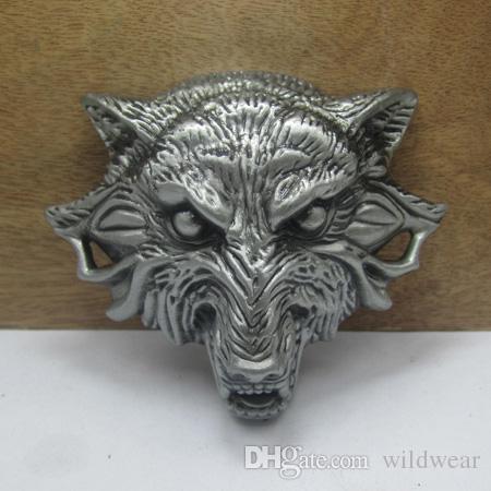 Wolf Head Belt Buckle
