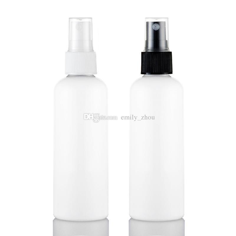 50 adet 100 ml boş Beyaz sprey plastik şişe PET, pompa ile 100CC küçük seyahat sprey şişeleri, doldurulabilir parfüm sprey şişeleri sürü