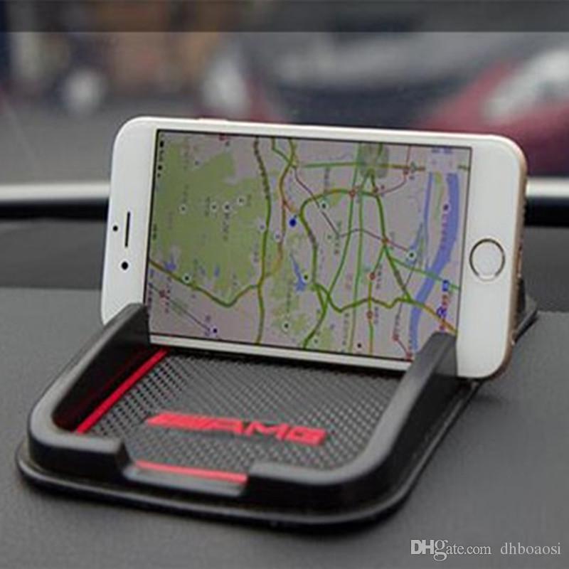 Accessoires de voiture Anti dérapant en caoutchouc GPS tablette téléphone Mat pour Audi BMW Benz voiture Accessoires style