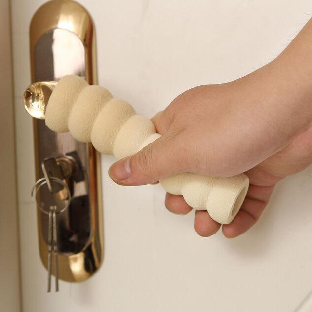 Suprimentos de produtos de segurança infantil do bebê / quarto Protetores de maçaneta da almofada Espiral anti-colisão segurança maçaneta de proteção manga de porta