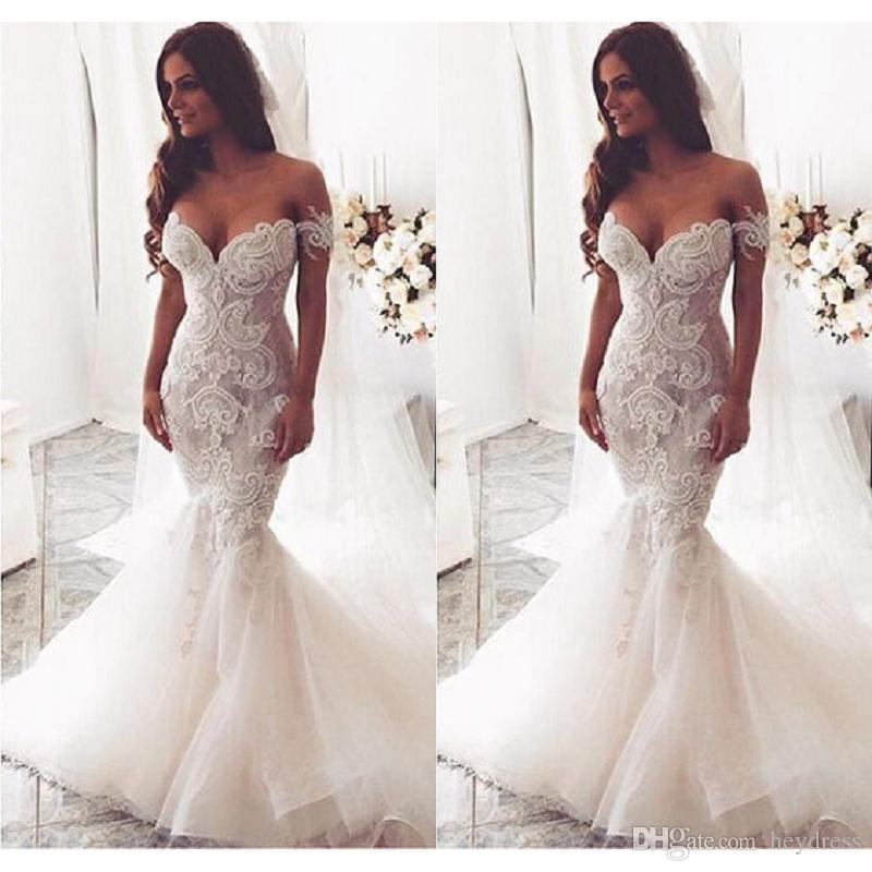 Vintage Lace Country Wedding Dresses Mermaid Style 2017 Off The ...