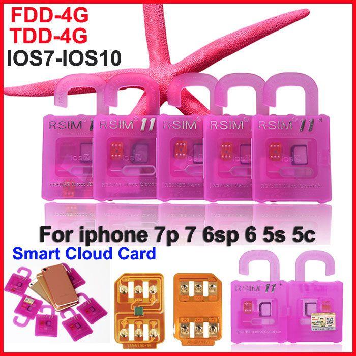 R SIM 11+ RSIM11 plus r sim11 + rsim 11 карта разблокировки для iphone7 iPhone 5 5s 6 6 plus iOS7 8 9 10 ios7-10.x CDMA GSM WCDMA SB SPRINT LTE 4G 3G