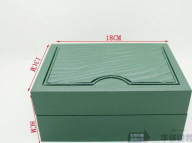 الفاخرة الخضراء ووتش مربع أوراق بطاقة محفظة صناديق الحالات الساعات القضية