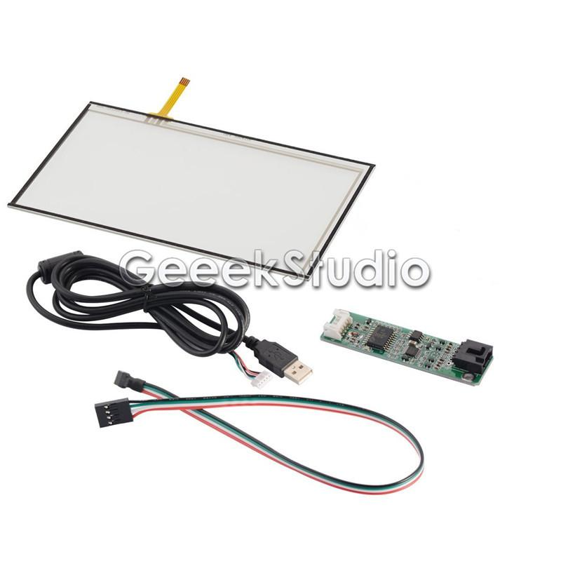 Freeshipping 7 inch 4-Wire Resistive LCD Touch Panel for AT070TN92 + USB Port Touch Panel Controller Driver Board Kit