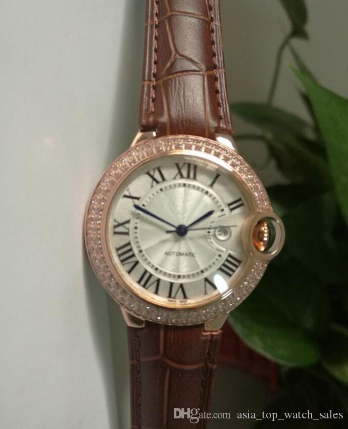 Venta directa de fábrica alibre Automático 36mm Dial blanco W69011Z4 18k Rose Gold top marca Hombres mujeres Relojes de pulsera relojes de pulsera de la marca