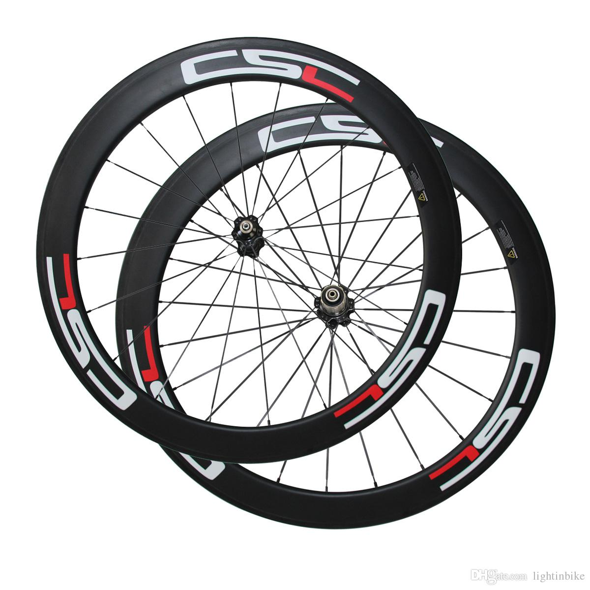 CSC Decal 60mm Clincher/Tubular Carbon wheels width 23mm 700C road bike wheels Bicycle carbon wheels Novatec Hub
