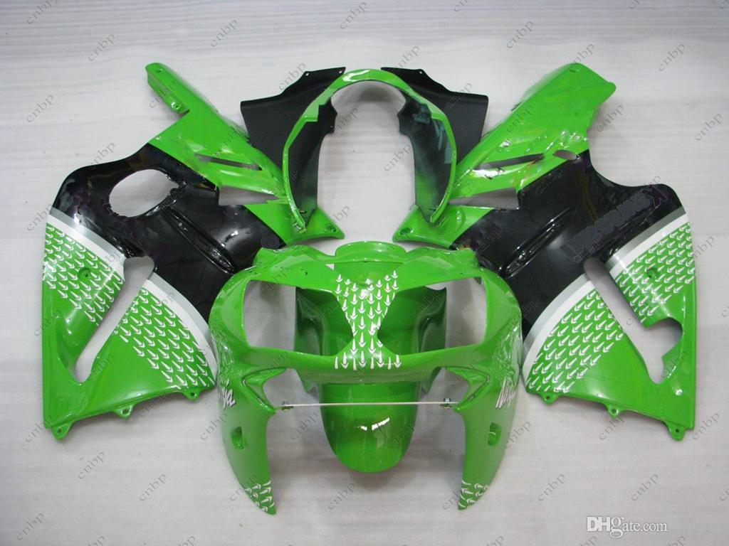 Plastic Fairings for Kawasaki Zx12r 03 04 Full Body Kits Zx12r 2004 Green Black ABS Fairing Zx-12r 05 06 2002 - 2006