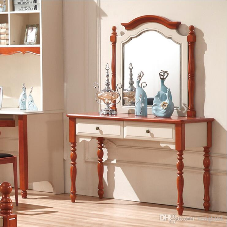 2019 Factory Price RoyalEuropean Mirror Table Modern Bedroom Dresser French  Furniture White French Dressing Table P10250 From Tengtank, $562.82 | ...