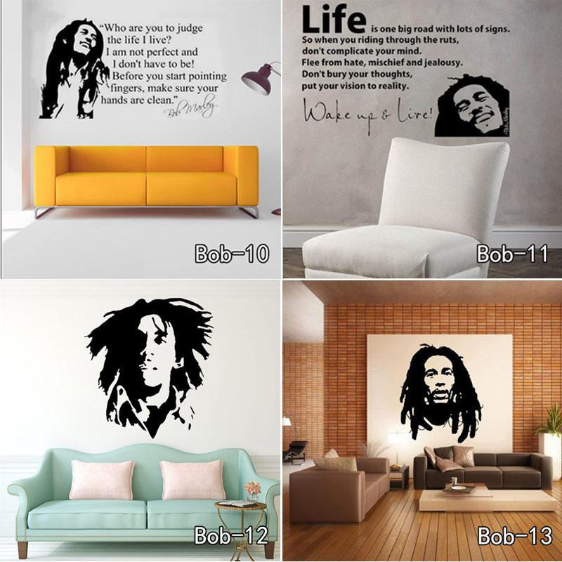 Bob Marley Quotes Wall Sticker Vinyl Decals Quotes Poster Wallpaper Wall Stickers Home Decoration Free Shipping