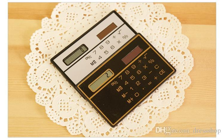 Solar slim card calculator mini calculator Mini Pocket portable mini pockets