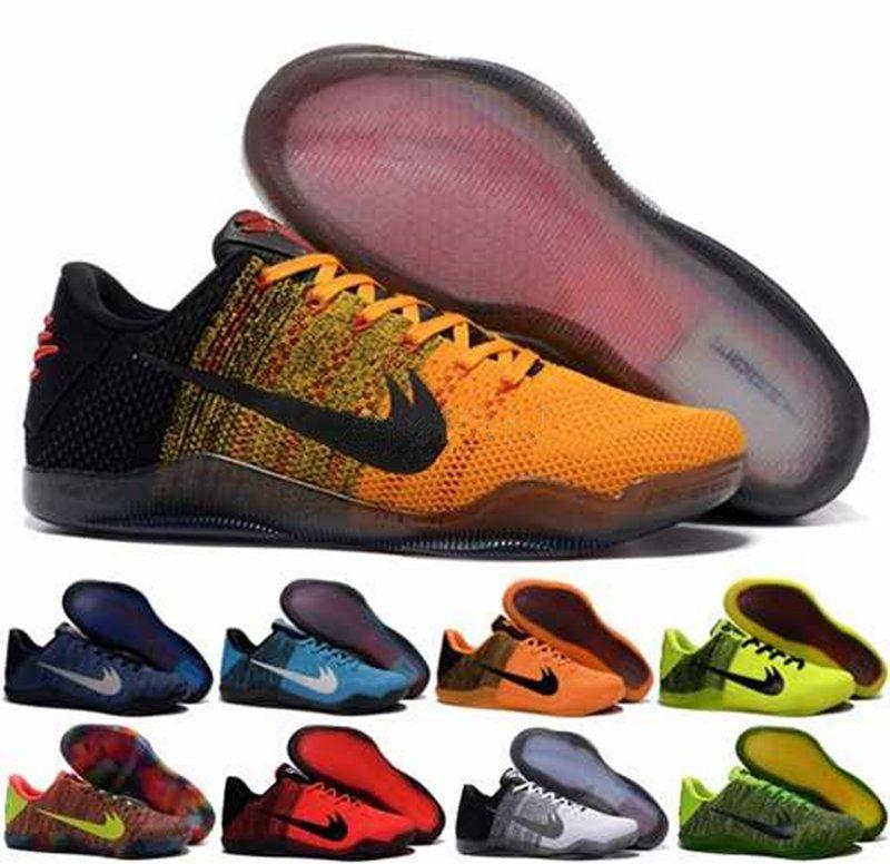 2017 Kobe 11 Elite low Sun WuKong Mens Basketball Shoes 4KB Black Horse  Mambacurial Cheap KB11