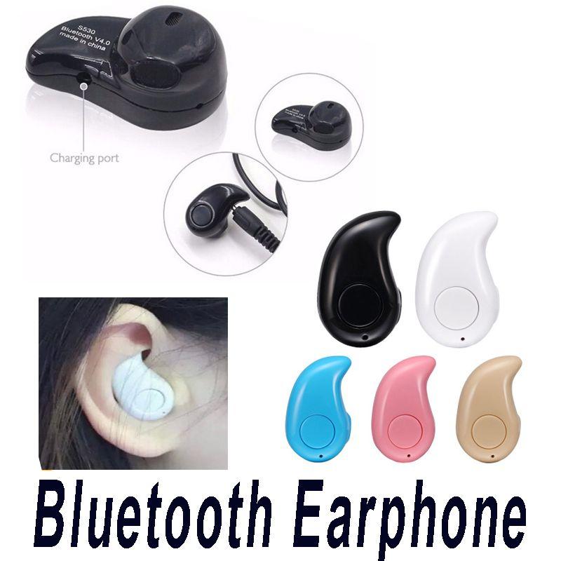 S530 Mini Wireless Stealth Bluetooth Kopfhörer Stereo-Kopfhörer-Kopfhörer Earbuds mit Mic Untra-kleiner versteckt mit Kleinpaket