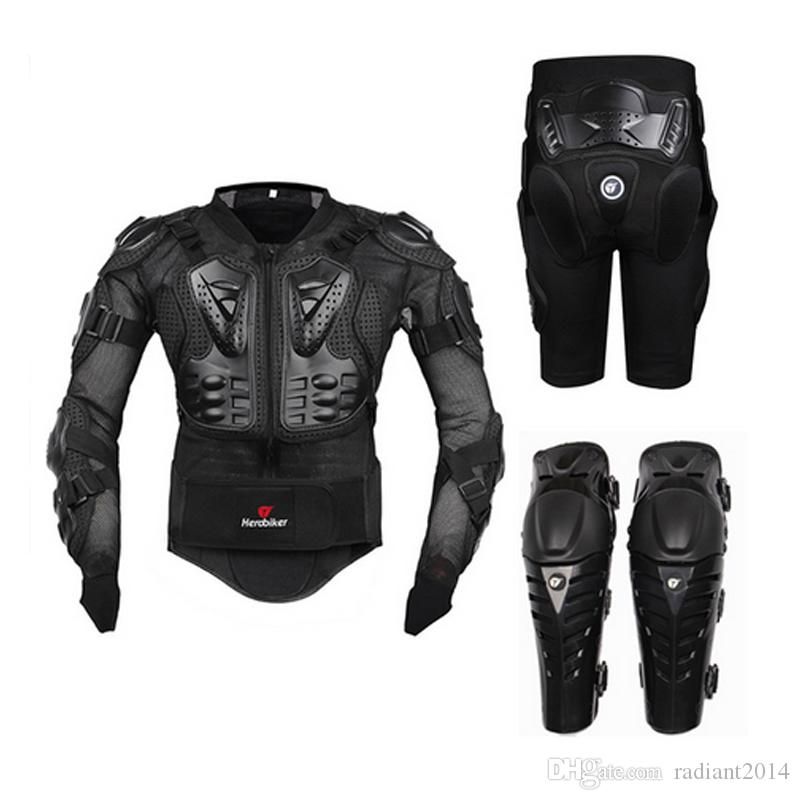 Motocicleta Equitação Armadura Equipamentos de Proteção Motocross Off-Road Enduro Racing Protetor de Corpo Inteiro Jaqueta + Hip Pad Shorts + Joelheiras
