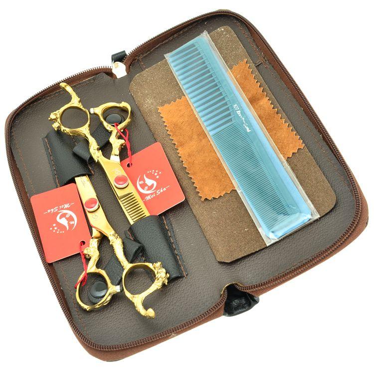 6.0Inch Meisha Dragon Handle Professional Hairdressing Scissors Set Hair Cutting & Thinning Shears JP440C Barber Salon Razor,HA0283