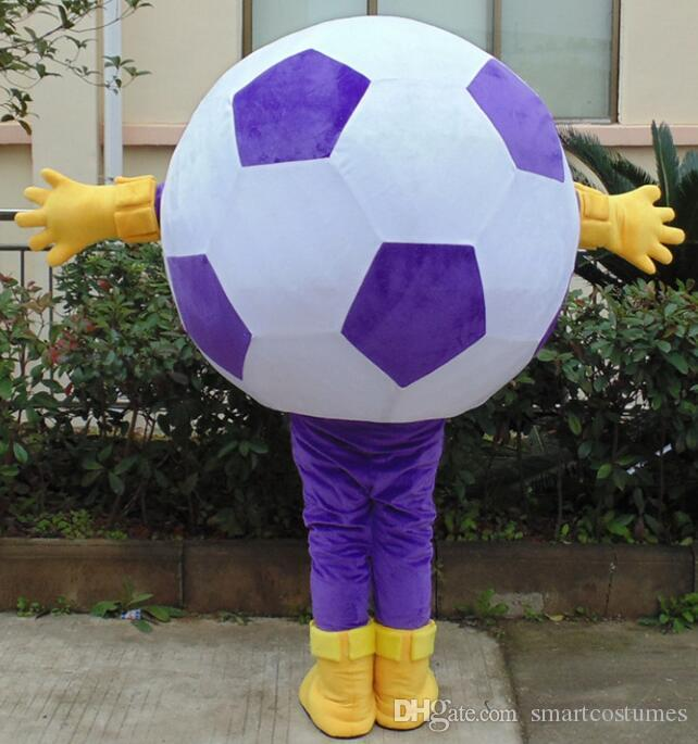 SX0728 100% real photos of white and purple color football mascot costume for adult to wear for sale