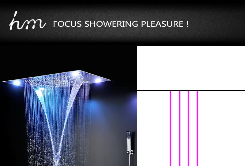 Bathroom Shower Valve Large Water Flow Solid Shower Accessories 5 ways Chrome Brass Panel Diverter Faucet Tap Shower Controller (7)