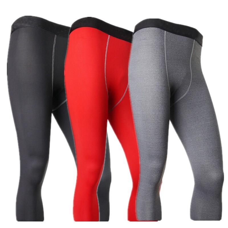 Wholesale-#1050 Men Male Compression Base Layers Under -Clothing Thermal Skins Pants Men S-XXL Free Shipping