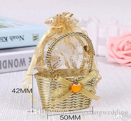Romantic Wedding Favor Candy Bucket Creative Design Rhinestone Bow Favor Candy Bags Special Gift Packing Wedding Decoration