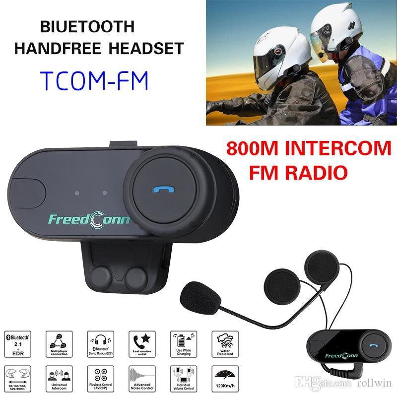 Heiße Verkäufe BT Motorrad Sturzhelm Bluetooth Intercom Full Duplex Bewegungs Talkie Ski Helm Headsets FM Radio