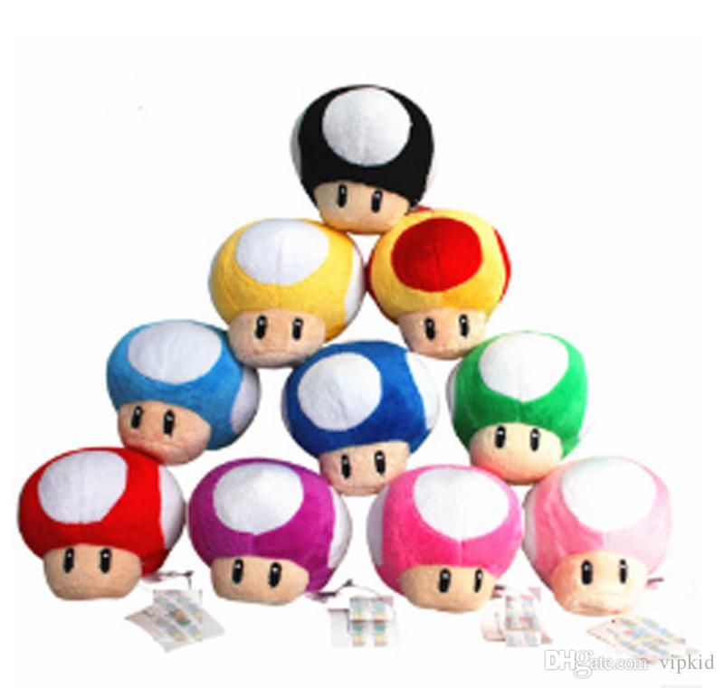 Acheter Set Super Jouet En Peluche Mario 7cm Crapaud Champignon Peluche Pendentif Dessin Animé Super Mario Stuffed Animals Pendentif De 843 Du