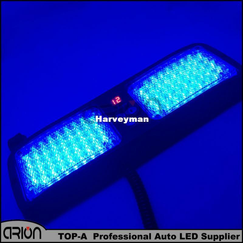 86 LED Super Bright Car Truck Visor Strobe Flash Light Panel 86LED 2x43 LED 6 Optional Colors Blue Color