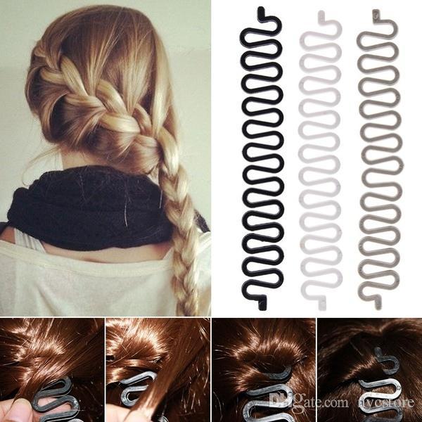 Fashion French Hair Braiding Tool Roller With Magic hair Twist Styling Bun Maker Headband Hair Clip