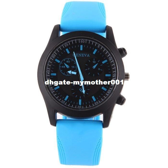 Nueva moda Sport Casual Watch Hombres Mujeres Color puro Jelly Silicone Watches Students Elegante Relojes de pulsera Reloj de cuarzo Reloj
