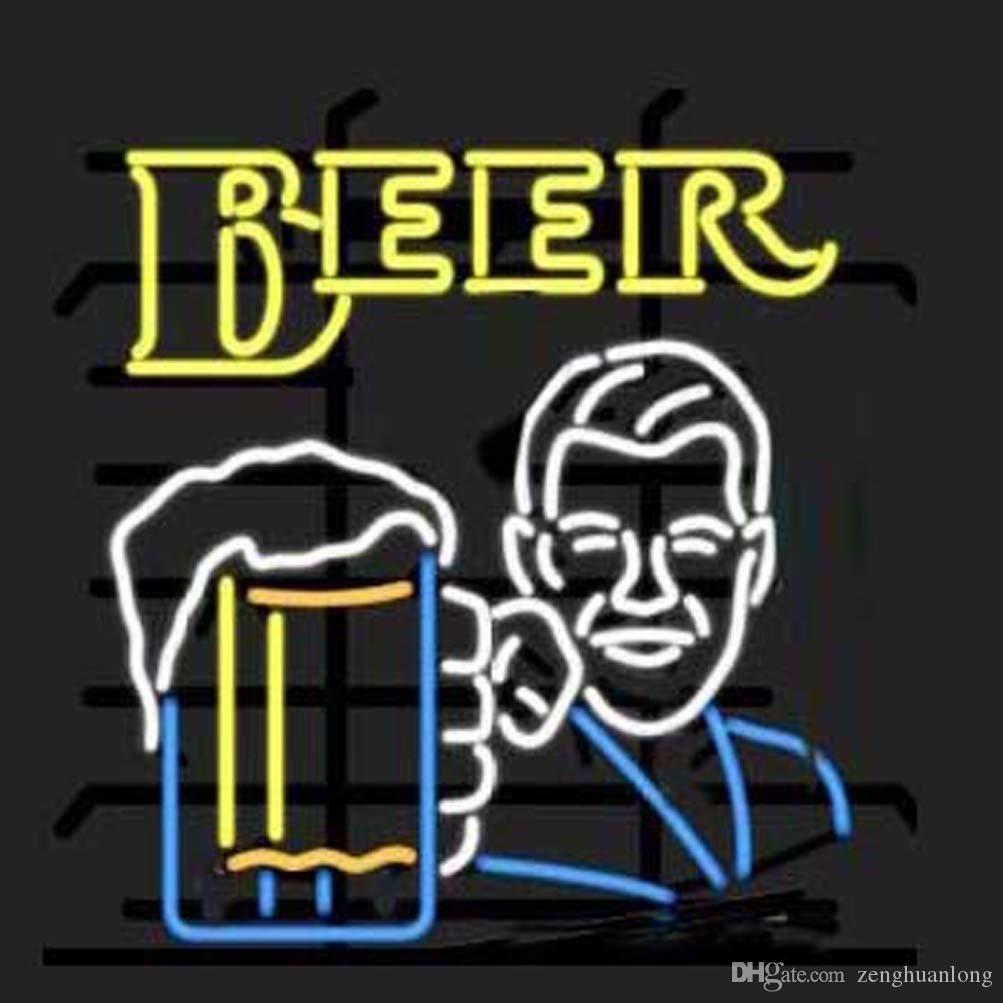 Fashion New Handcraft Beer Design Real Glass Beer Bar Display neon sign 19x15!!!Best Offer!