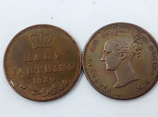 1839 Reino Unido 1/2 Farthing - Victoria (1º retrato) Fabricação de cobre Frete grátis