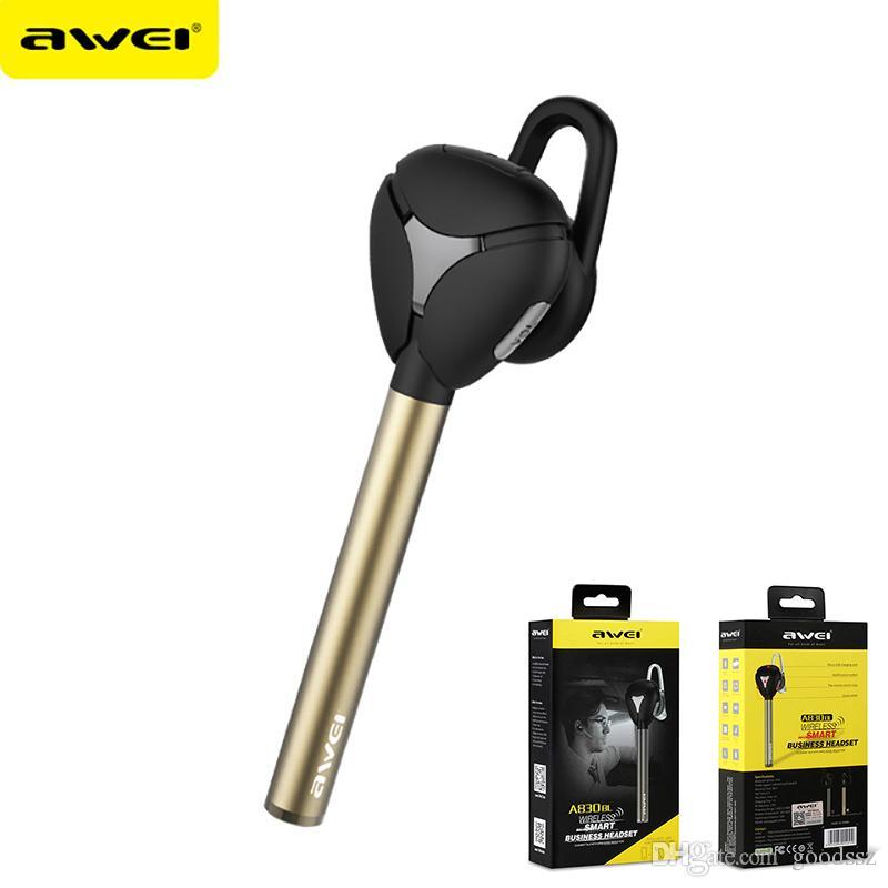 AWEI A830BL 무선 블루투스 헤드셋 헤드폰 스포츠 이어폰 V4.1 iPhone 7 Plus Plus 스마트 폰용 마이크로 소음 차단