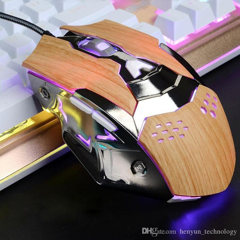 6 кнопок 2000dpi игровые мыши USB проводной оптической компьютерной мыши мыши мыши