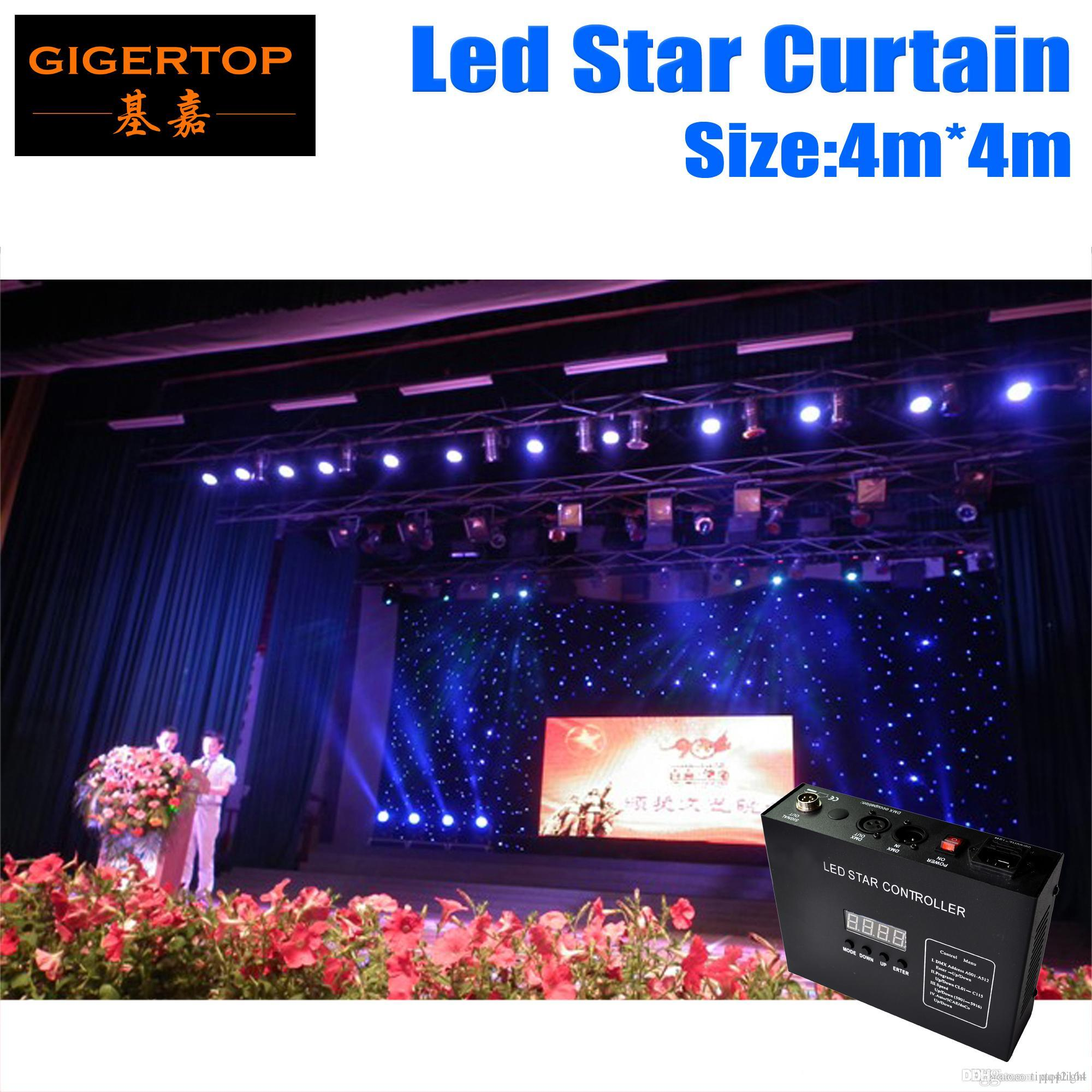 4M*4M LED Star Curtain RGBW/RGB Colored LED Stage Backdrop LED Star Cloth for Wedding Decoration 90V-240V with DMX Controller