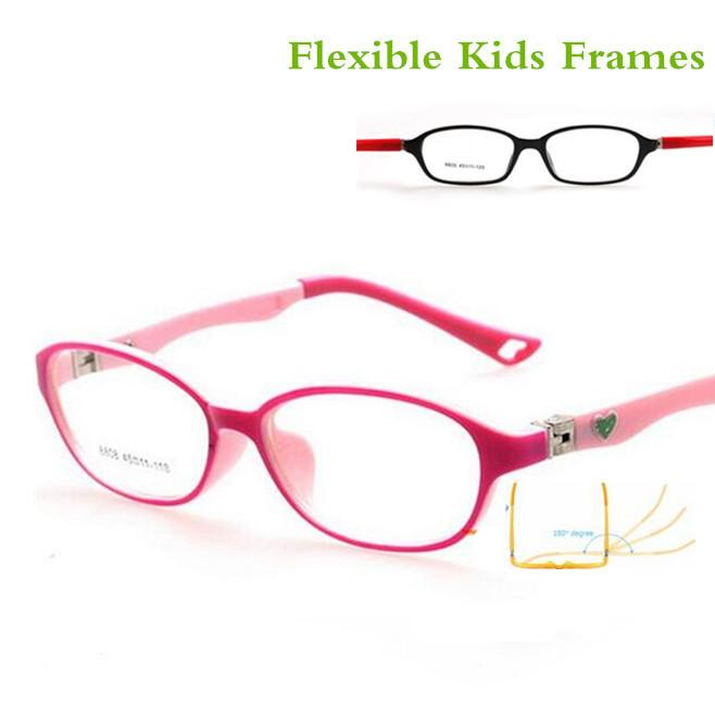 Al por mayor-Moda Kid Gafas Gafas Niños Marcos de luz para niños Gafas Marcos Niños para niñas TR90 Miopía Optical Amblyopia Frame