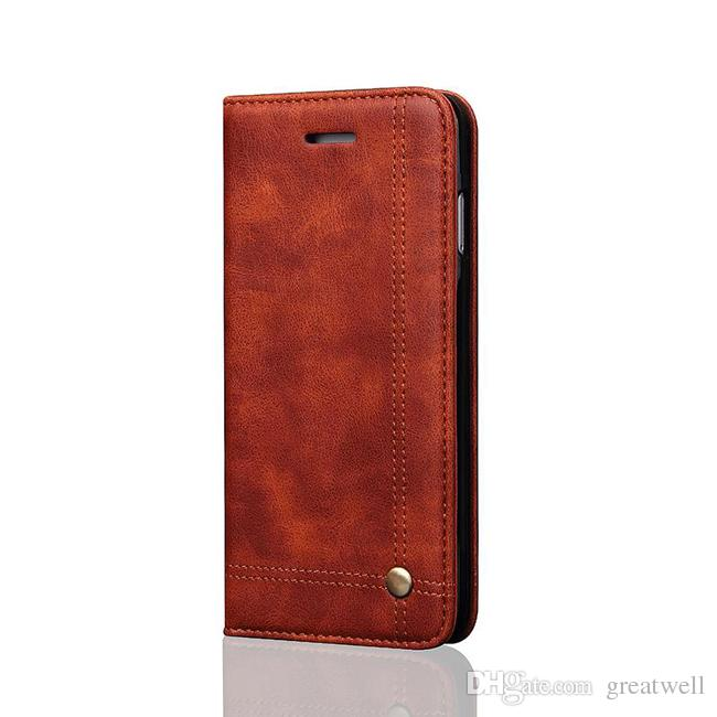 Luxury Vintage Leather Magnet Flip Card Slot Wallet Cover Case for iphone 11 12mini Pro Max XS XR 8 7 6S Plus