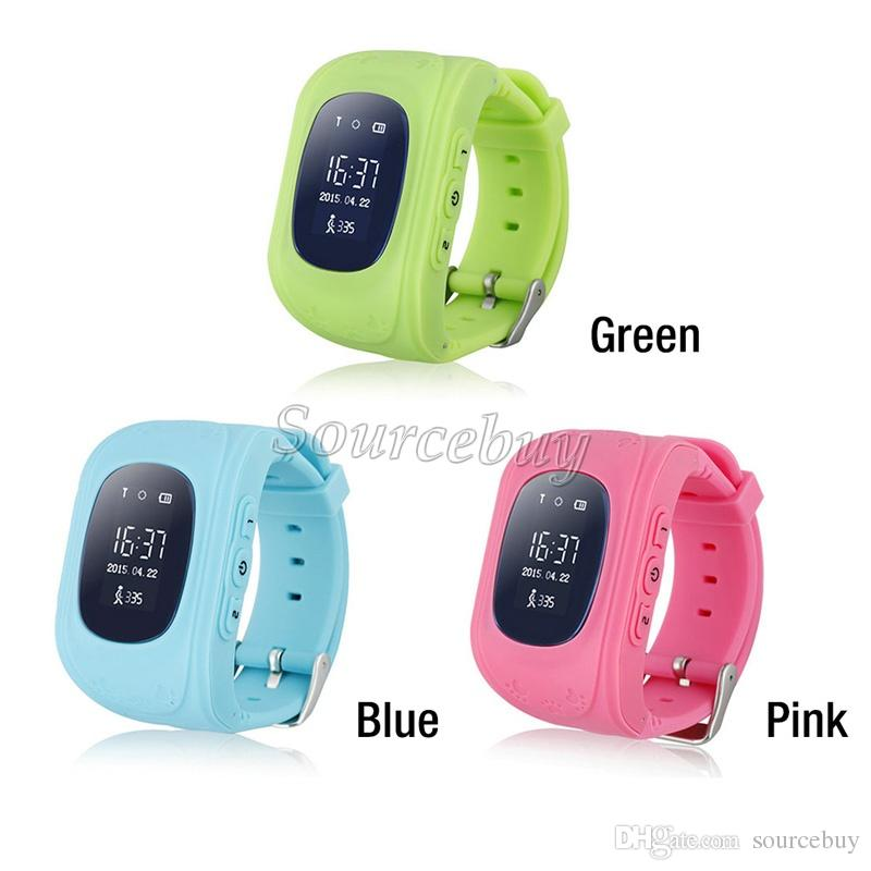Double Smart Watch Child Kid Wristwatch Bluetooth Местоположение SmartWatch Лучший Подарочный монитор Дети Q50 Tracker SOS Безопасный LBS GPS Детям REMO RTCW