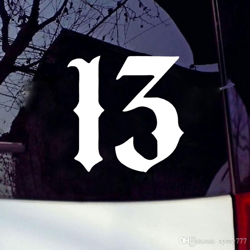 Lucky 13 Decal Vinyl Car Window Sticker ANY SIZE