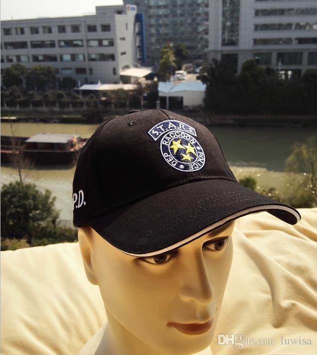 b3c78abdbbfa99 Resident Evil STARS Hat Adjustable Baseball Cap Black For Men And Wemen