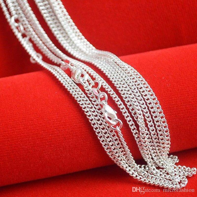 Heißer Verkauf 925 silberne Halskette mit 16-24 Zoll silberner Halskette 925 Hummerhaken-Tag