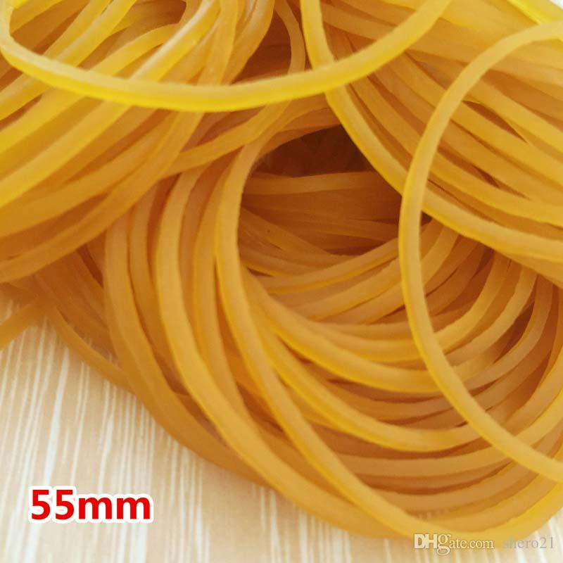 High Quality 500pcs/Pack Rubber Bands 55mm Rubber Band Elastic Heavy Duty Office Strong Packing Packaging Rubber Bands Papelaria