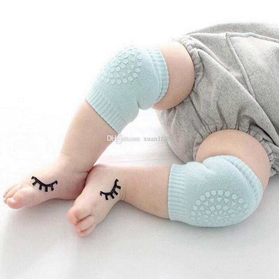 Caldo ! 12Pairs Bambino strisciante Knee Pad Super traspirante Ginocchiere regolabili ginocchio Rilievi di gomito del braccio dei rilievi di sicurezza Protector Toddler bambino