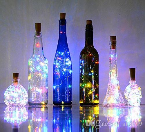 Bottle Lights Cork Shape Mini String Lights Wine Bottle Fairy Strip Battery Operated Starry lights For DIY Christmas Wedding Party Decoratio