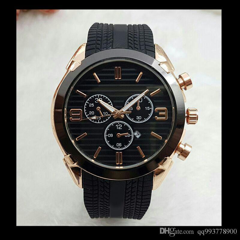 Relogios masculinos 45mm alta qualidade top marca relógios de ouro dos homens designer de moda de luxo big bang quartz relógio data dia mestre automático