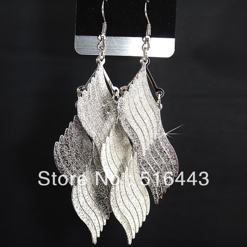 Yeni Varış 6 Pairs Moda Gümüş P buzlu Takılar Bırak Küpe Kadınlar için Toptan Takı Lots A-751