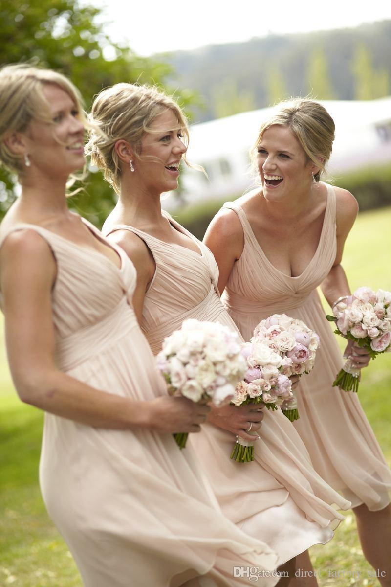 2016 fall cheap country bridesmaid dresses nude colored straps 2016 fall cheap country bridesmaid dresses nude colored straps pleated short junior dresses backless knee length ombrellifo Image collections