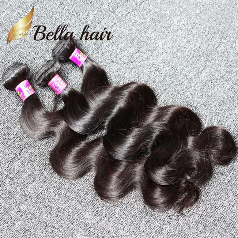 10-24 pouces naturel couleur de haute qualité Indien cheveux Trame 3 Bundles 9A vague de corps humain Extensions cheveux Livraison gratuite