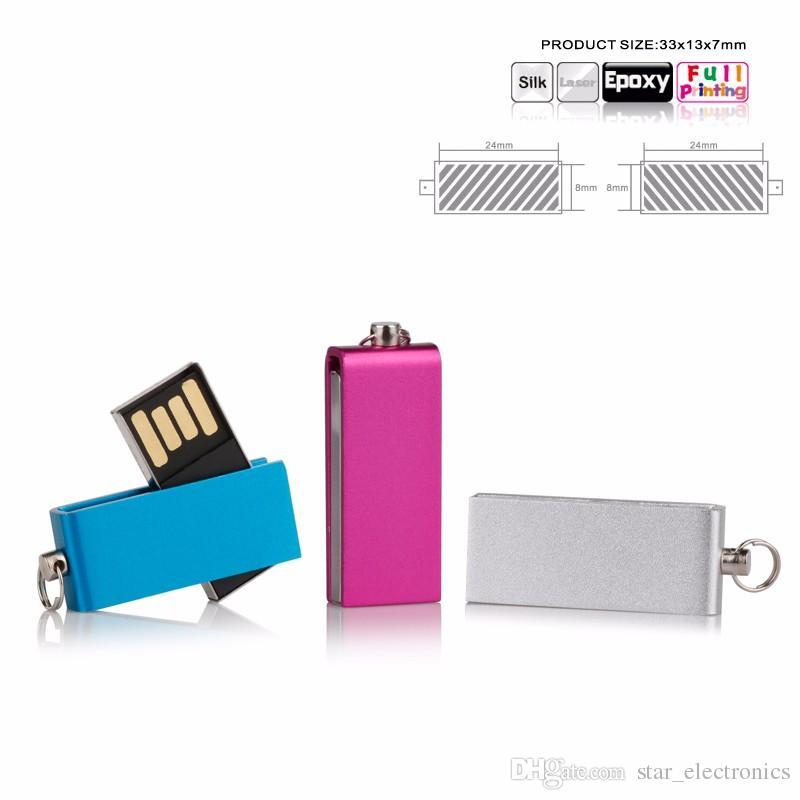 Mini usb flash drive Flash Memory Stick Hot Sale Drive U-Disk 4GB 8GB 16GB 32GB 64GB 128GB Metal Key Suit for Customized Logo